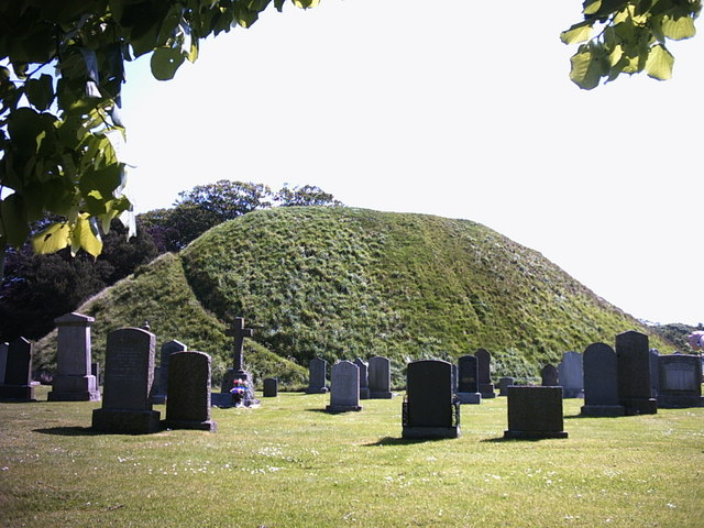 The Bass, a Motte in Inverurie Churchyard