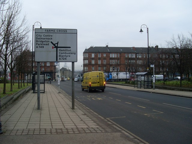 Approaching Farme Cross on Farmeloan Road