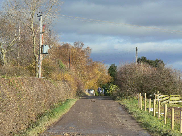 The lane to Bulcote Lodge Farm