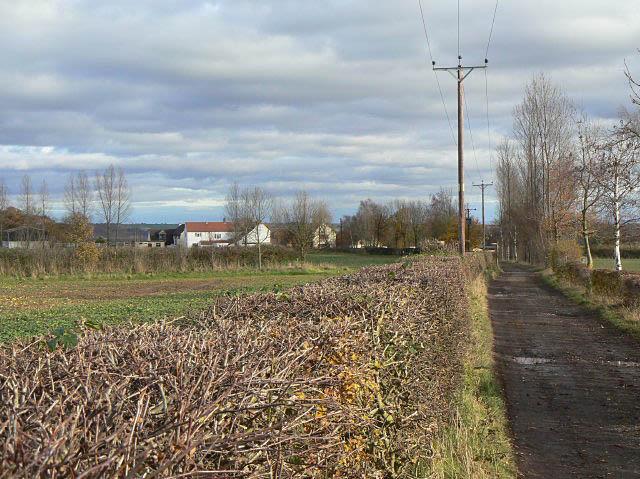 Farmland above Burton Joyce