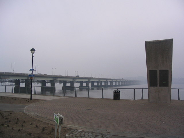 The Tay Road Bridge and Plaque
