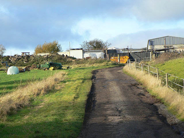The track to Hill Farm
