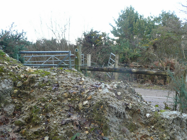 Blocked footpath