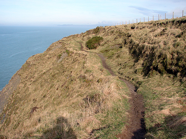 A precipitous section of the Ceredigion Coastal Path