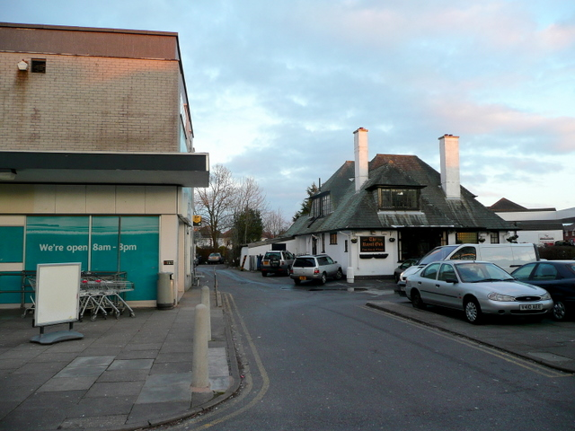 Side view of the Royal Oak, Kinson