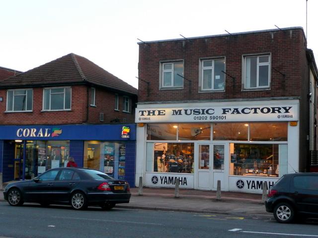 Betting shop next to music shop, Kinson