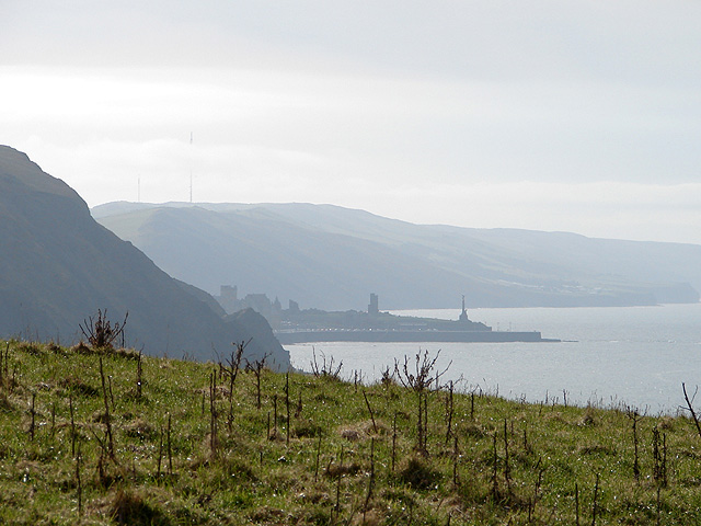 A telephoto view towards Aberystwyth