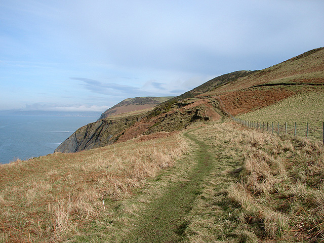 An easier section of the Ceredigion Coastal Path