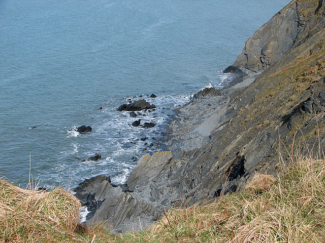Foreshore and cliffs beside the Ceredigion Coastal Path
