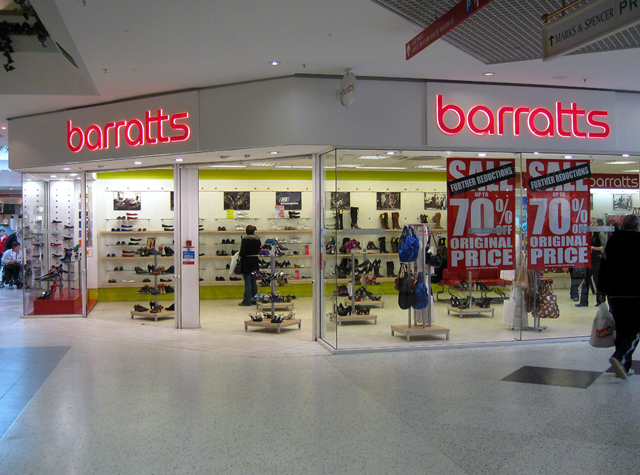 Barratts Shoes, Telford Town Centre