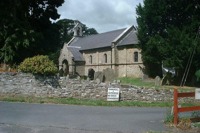 Llanfihangel Nant Melan church