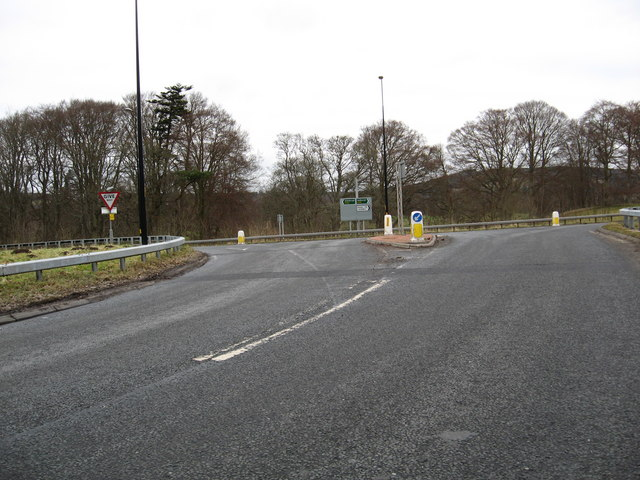 Junction of the A68 and A698