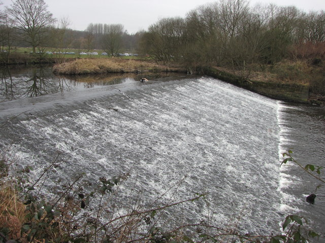 Weir on the River Croal