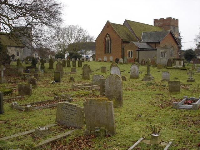 Trimley churchyard