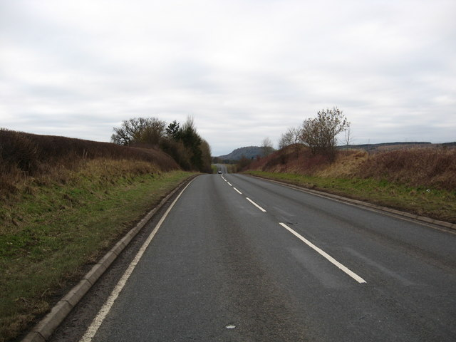 The A698 heading southwest