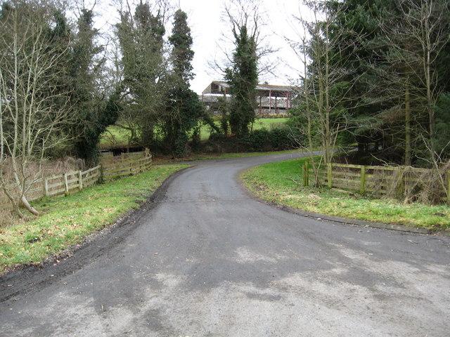 Entrance road to Newton Farm