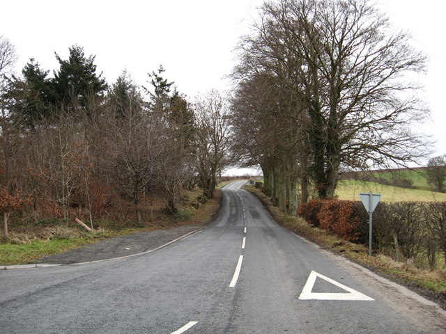 The B6348 road.