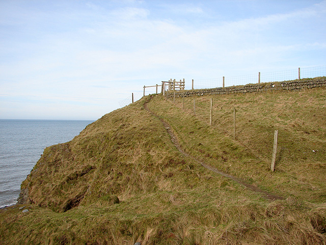 The Ceredigion Coastal path heads north away from Wallog