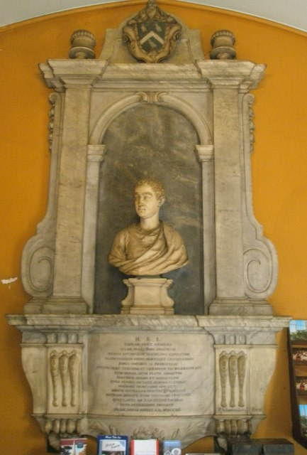 Bust in the porch at St John the Baptist, Windsor