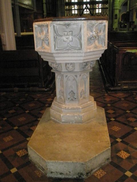 The font at St John the Baptist, Windsor