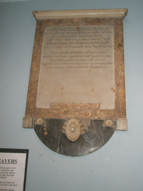 Memorial to a Rector's wife within St John the Baptist, Windsor