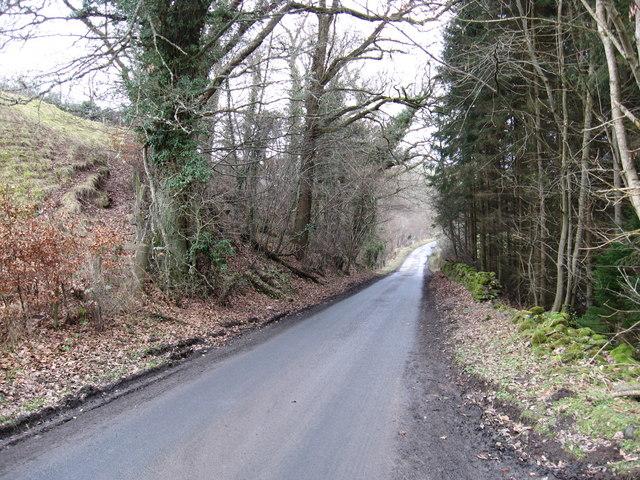 Single track road to Bedrule
