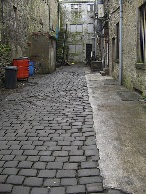 Back alley, Colne