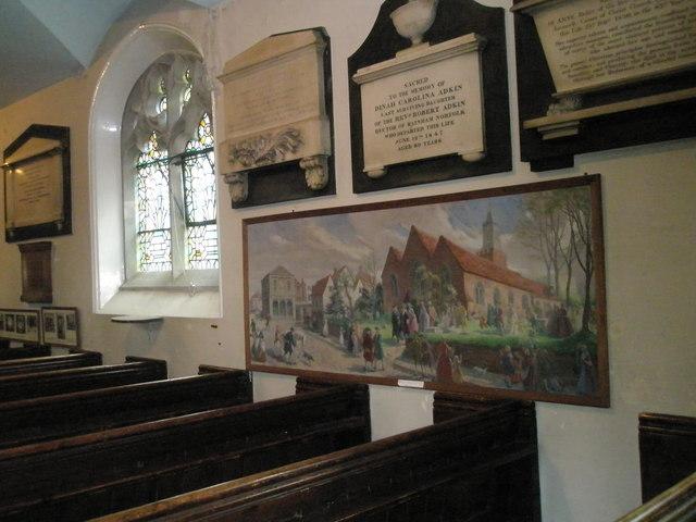 South wall of St John the Baptist, Windsor
