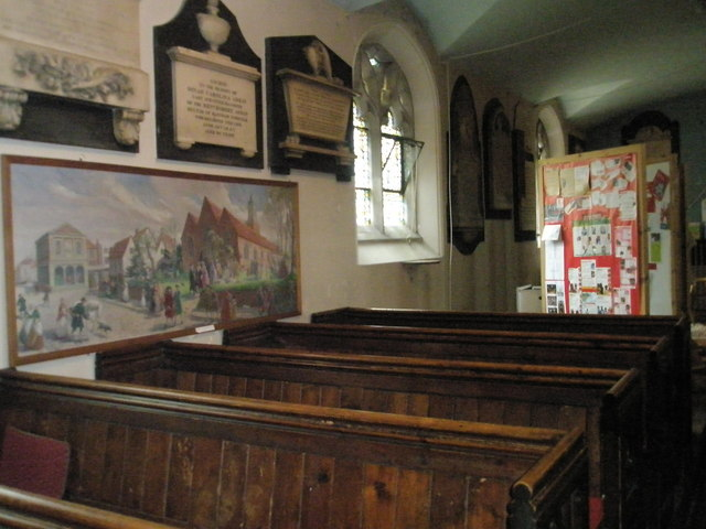Ancient pews within St John the Baptist, Windsor