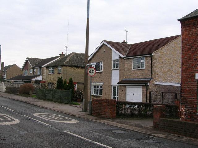 Suburban housing on the B6016