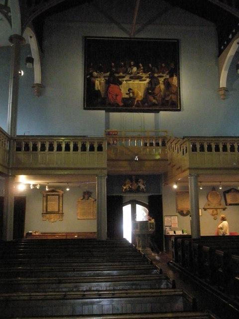 Famous landmark above the west door at St John the Baptist, Windsor