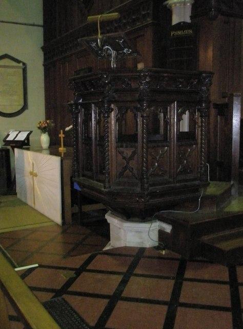 The pulpit at St John the Baptist, Windsor