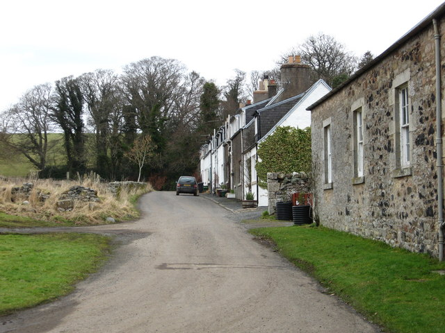 A row of houses in Bedrule