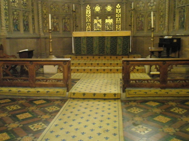 The altar within St John the Baptist, Windsor