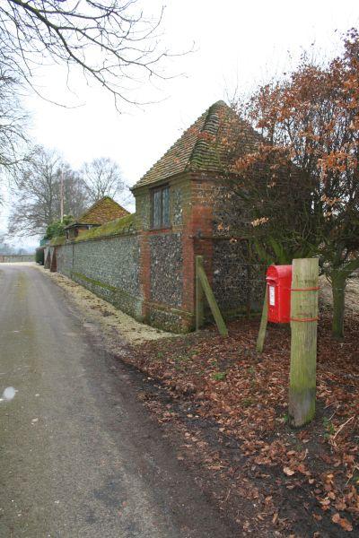 Post box near the Manor