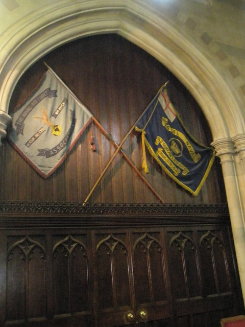 Flags in the chancel at St John the Baptist, Windsor
