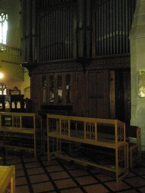 The organ at St John the Baptist, Windsor