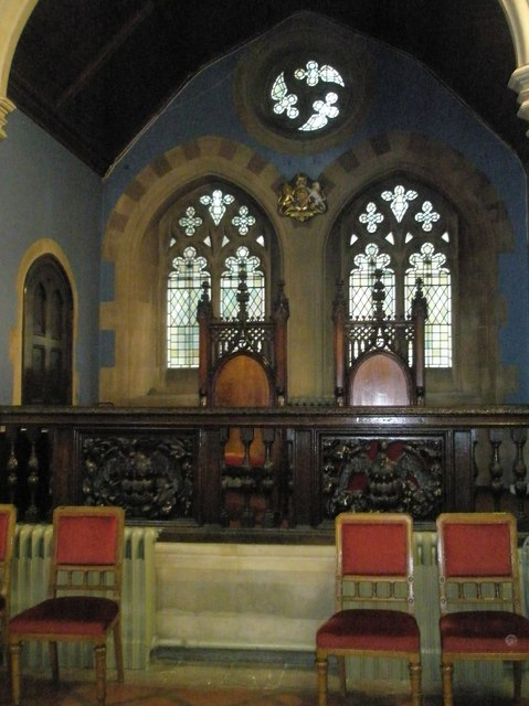 Chairs for two very special guests within St John the Baptist, Windsor