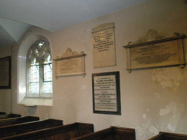 Memorials on the north wall at St John the Baptist, Windsor