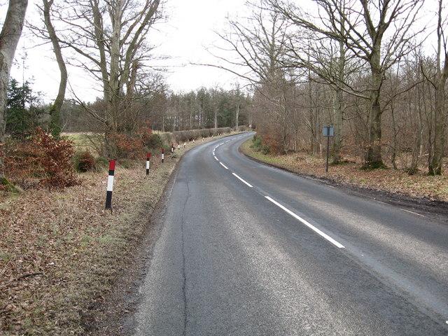 The B3658 heading towards Jedburgh