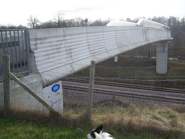 Footbridge over CTRL