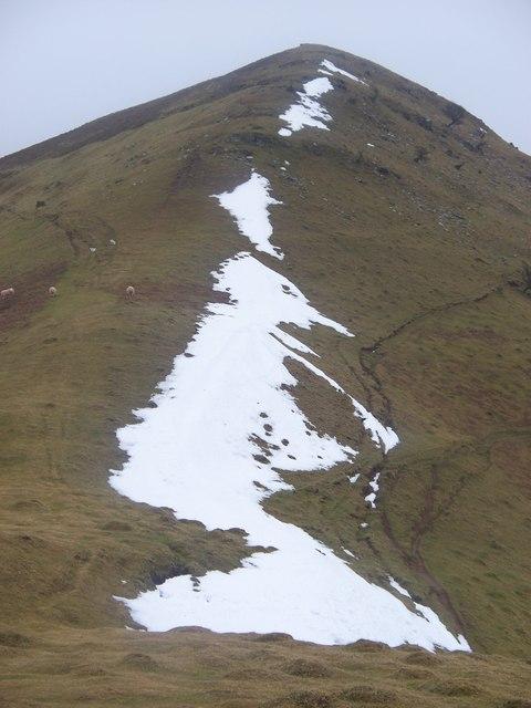 The climb to Y Grib from Bwlch Bach a'r Grib