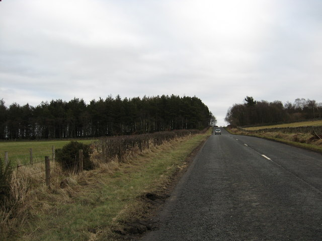 A straight section of the Denholm to Jedburgh road