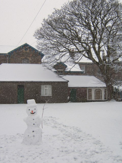 Snowman in Palace Green