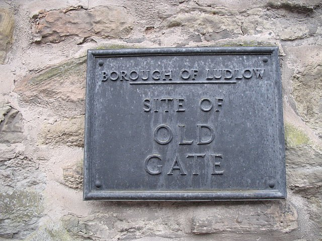Old Gate plaque