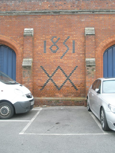 Date inscribed in the brickwork at Windsor & Eton Riverside railway station