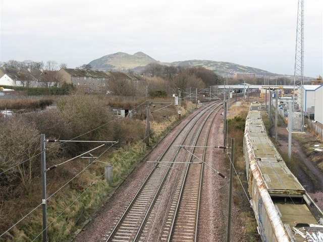 The East Coast Mainline, heading into Edinburgh