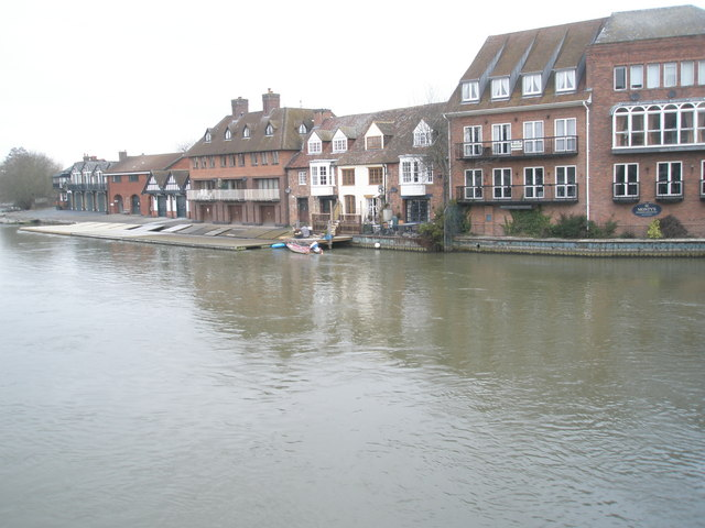 View across the River Thames from Windsor to Eton