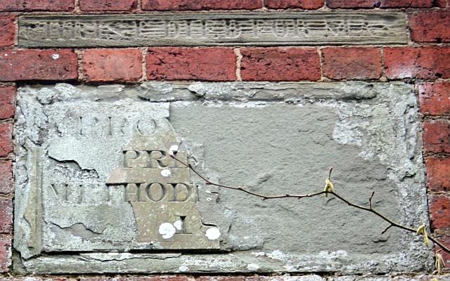 Plaques above chapel doorway