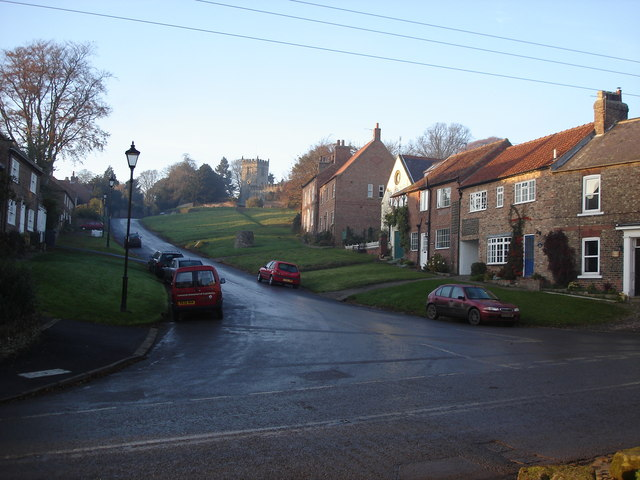 Crayke - Church Hill and the church